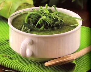 Крем-суп с рукколой и шпинатом