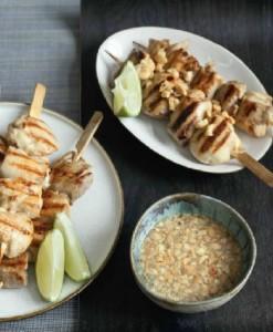 Шашлычки из цыпленка с чили и мятой