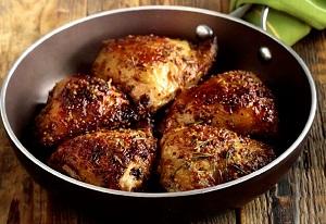 Куриные бедрышки в медово-горчичном соусе