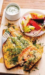 Запеченная рыба с соусом по-скандинавски