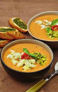 Томатный суп в испанском стиле