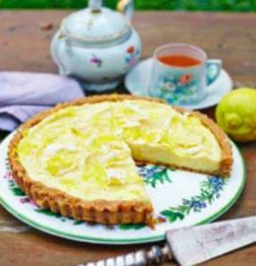 Тарт с белым лимонным шоколадом