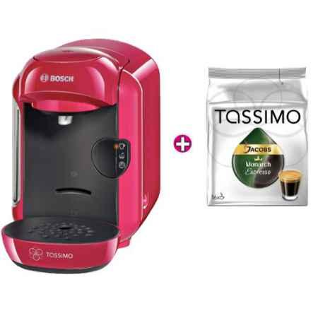 Купить Bosch TAS1201 Tassimo VIVY Кофемашина капсульная + Jacobs Monarch Espresso Кофе в капсулах