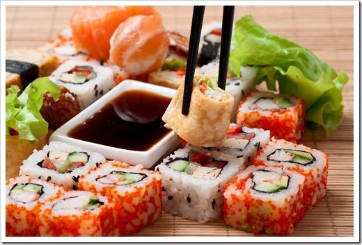 Суши из свежих продуктов