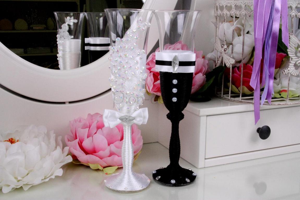 Как сделать свадебные бокалы