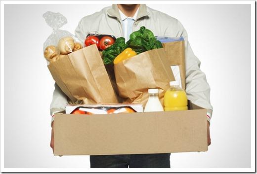 Заказ еды на дом через специализированный агрегатор