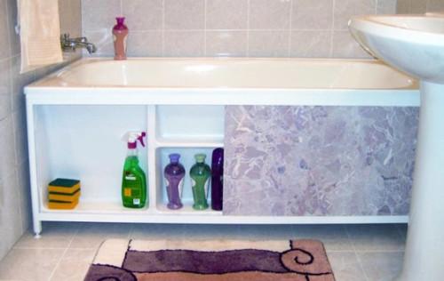 Как сделать экран под ванной своими руками