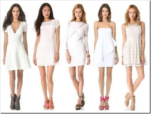 Белое платье – универсальность и красота